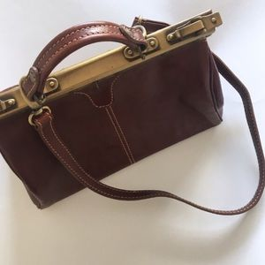 Tuscany Leather Bags - leather doctor bag vintage michelangelo gladstone 5543d2112dee3